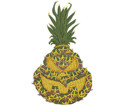 Embroidery Design: Pineapple Jack-O-Lantern Med 4.13w X 7.01h