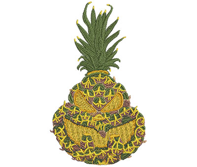 Embroidery Design: Pineapple Jack-O-Lantern Sm 3.54w X 6.01h
