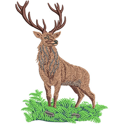 Embroidery Design: Red Deer Stag Lg 4.55w X 6.04h