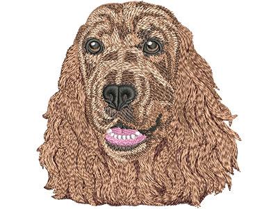 Embroidery Design: Cocker Spaniel Face Lg 4.42w X 4.47h