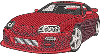 Embroidery Design: Shiny Sports Car Lg 4.53w X 2.41h