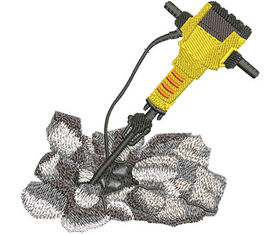 Embroidery Design: Jackhammer Lg 4.60w X 4.48h