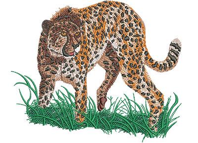 Embroidery Design: Cheetah Prowl Lg 6.08w X 5.07h
