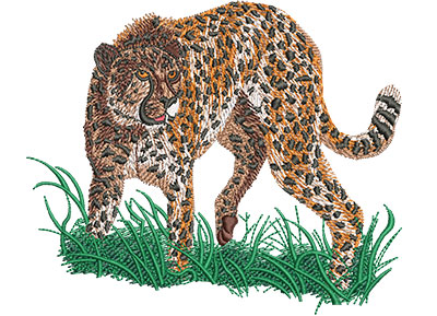 Embroidery Design: Cheetah Prowl Med 5.08w X 4.24h