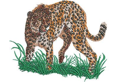 Embroidery Design: Cheetah Prowl Sm 4.08w X 3.40h
