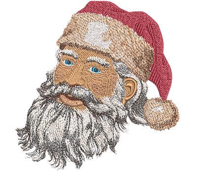 Embroidery Design: Santa's Face Lg 5.80w X 6.01h