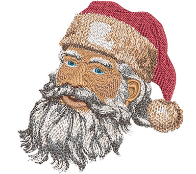 Embroidery Design: Santa's Face Med 4.82w X 5.03h