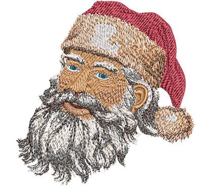 Embroidery Design: Santa's Face Sm 3.88w X 4.03h