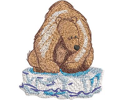 Embroidery Design: Polar Bear On Ice Sm 3.00w X 3.51h