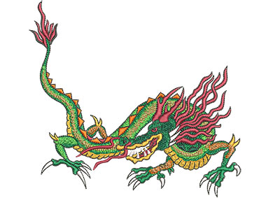 Embroidery Design: Chinese Dragon Lg 6.02w X 5.59h