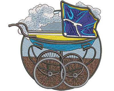 Embroidery Design: Baby Buggy Med 4.00w X 3.89h