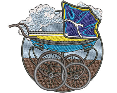 Embroidery Design: Baby Buggy Sm 3.49w X 3.40h