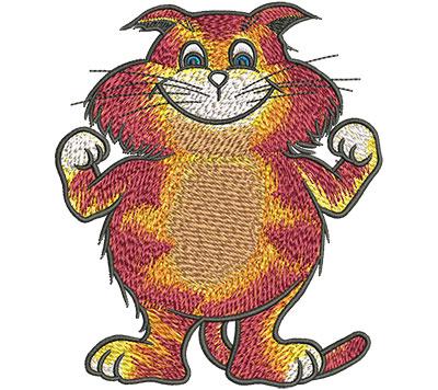 Embroidery Design: Cartoon Cat Champ Lg 3.84w X 4.52h