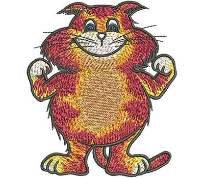 Embroidery Design: Cartoon Cat Champ Sm 2.99w X 3.52h
