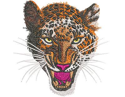 Embroidery Design: Leopard Snarl Med 5.08w X 5.06h