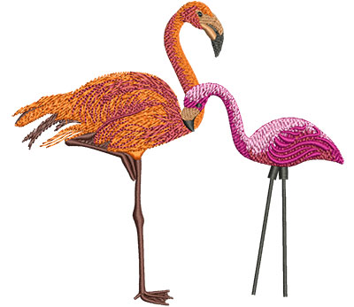 Embroidery Design: Flamingo Med 5.44w X 5.01h