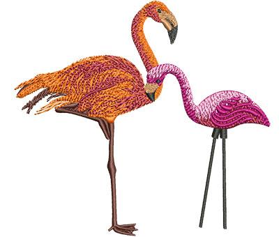 Embroidery Design: Flamingo Sm 4.45w X 4.09h