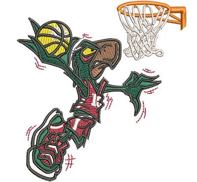 Embroidery Design: Cartoon Basketball Falcon Sm 3.30w X 3.51h
