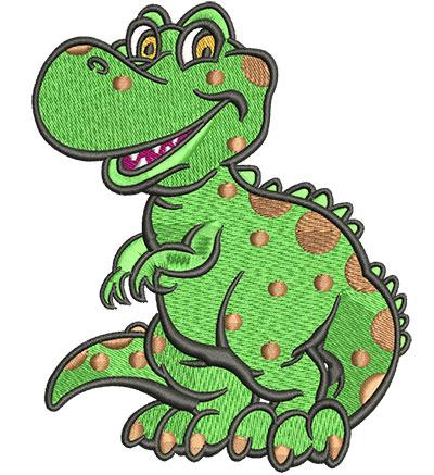 Embroidery Design: Lil T-Rex Lg3.66w x 4.53h