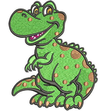 Embroidery Design: Lil T-Rex Med3.26w x 4.03h