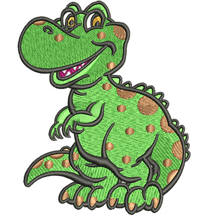 Embroidery Design: Lil T-Rex Sm2.85w x 3.53h
