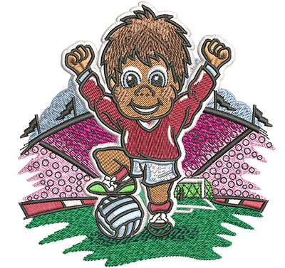 Embroidery Design: Little Soccer Champ Lg4.36w x 4.52h