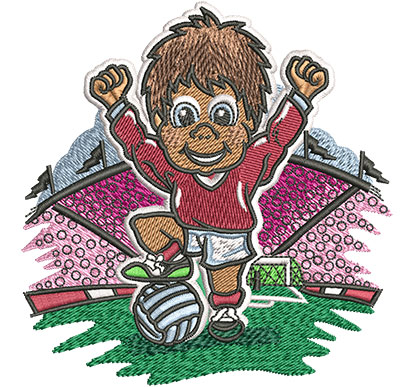 Embroidery Design: Little Soccer Champ Med3.88w x 4.02h
