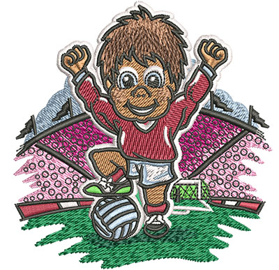 Embroidery Design: Little Soccer Champ Sm3.39w x 3.52h