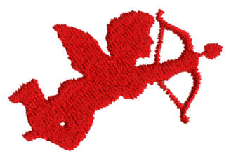 """Embroidery Design: Cupid1.83"""" x 1.30"""""""