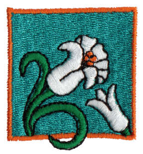 """Embroidery Design: Easter Lilies1.63"""" x 1.75"""""""