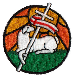 """Embroidery Design: Easter Lamb1.76"""" x 1.82"""""""