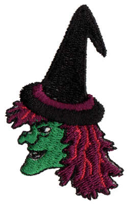"""Embroidery Design: Witch Y Poo1.45"""" x 2.35"""""""