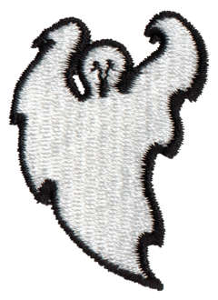 "Embroidery Design: Ghost1.34"" x 1.89"""