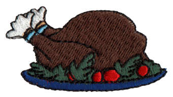 "Embroidery Design: Thanksgiving Turkey1.93"" x 1.04"""