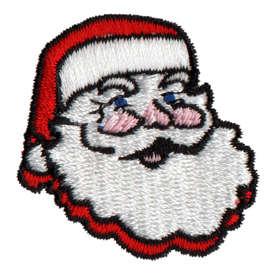 """Embroidery Design: Santa Head1.49"""" x 1.52"""""""