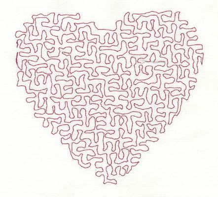 Embroidery Design: Stipple Heart Low 4.40w X 4.09h