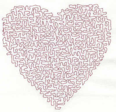 Embroidery Design: Stipple Heart Medium 4.38w X 4.21h