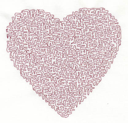 Embroidery Design: Stipple Heart High 4.46w X 4.23h