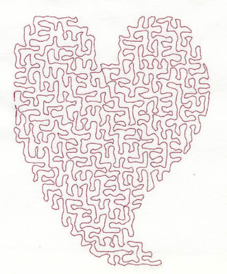 Embroidery Design: Stipple Stylistic Heart Low 4.08w X 5.26h