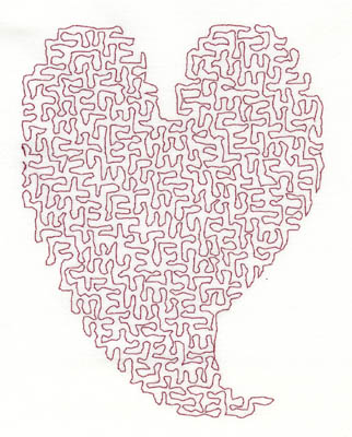 Embroidery Design: Stipple Stylistic Heart Medium 4.06w X 5.32h