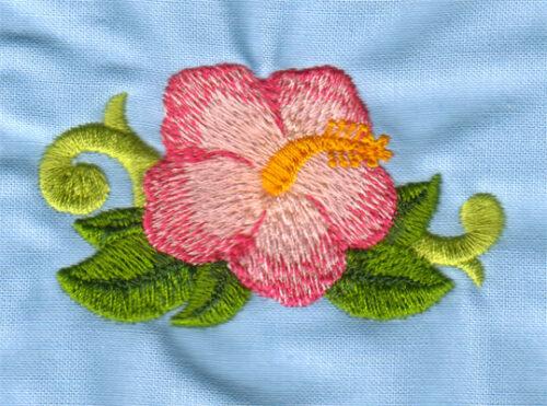 "Embroidery Design: Hawaiian Hibiscus (small)2.94"" x 1.65"""