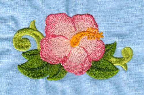 "Embroidery Design: Hawaiian Hibiscus (large)3.97"" x 2.24"""
