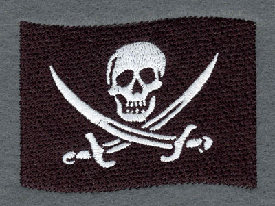 Embroidery Design: Pirate Flag3.51w X 2.67h
