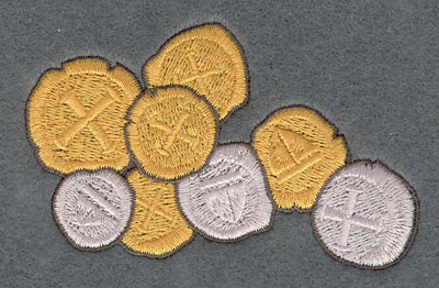 Embroidery Design: Pieces of Eight Collection3.79w X 2.38h