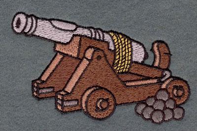 Embroidery Design: Cannon3.84w X 2.53h