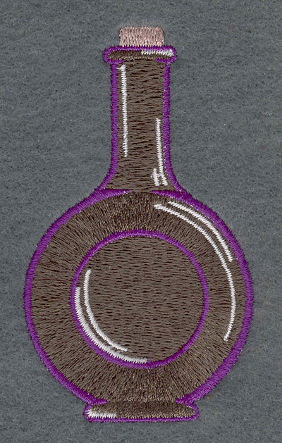 Embroidery Design: Rum Bottle2.23w X 3.79h