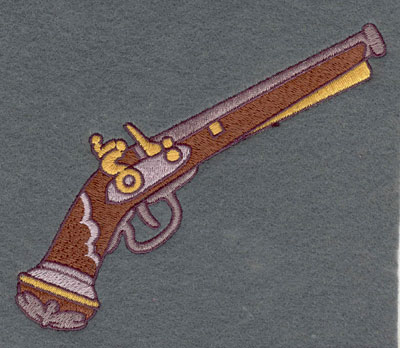 Embroidery Design: Musket Single Large5.31w X 4.31h