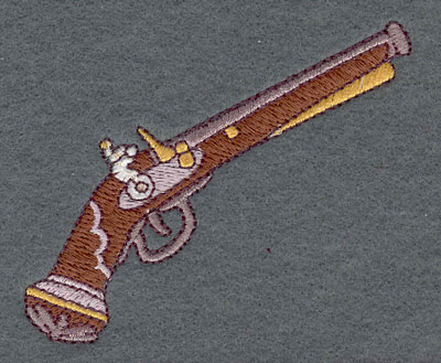 Embroidery Design: Musket Single Small3.51w X 2.86h