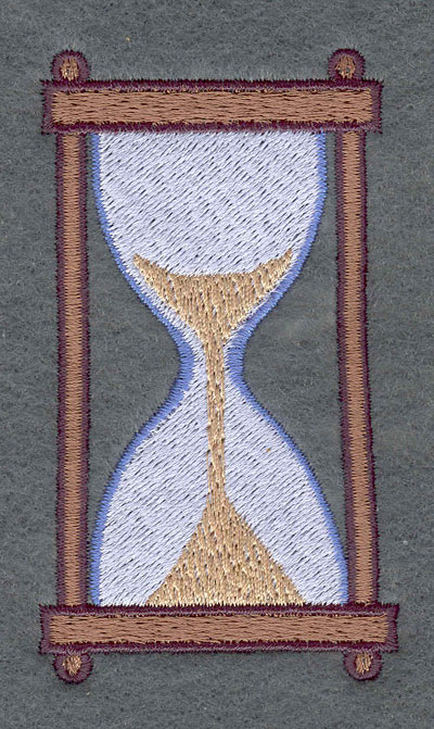 Embroidery Design: Hourglass2.06w X 3.61h