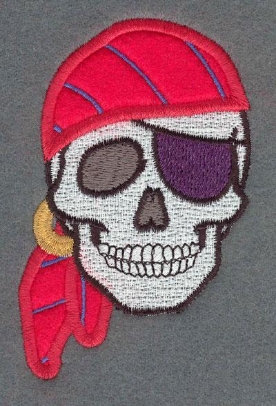 Embroidery Design: Pirate Applique w/ Bandana & Eye Patch2.66w X 4.06h